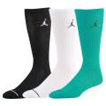 BK294 【メール便対応】Jordan Jumpman 3 Pack Crew Socks ジョーダン クルーソックス 3足セット 黒白ピーコックグリーン 23cm~26.5cm 【ドライフィット】