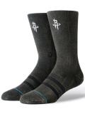 "BK303 【メール便対応】 Stance NBA ヒューストン・ロケッツ ""Blacktop"" クルーソックス Houston Rockets Crew Socks Mサイズ"