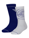 BK327  ジュニア エアジョーダン1 Sole クルーソックス 2足セット 靴下 Jordan Crew Socks 22cm-25cm 白コンコルド 【メール便対応】