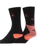 BK336  ジュニア ジョーダン クルーソックス 2足セット 靴下 Jordan Crew Socks 2 Pack 黒インフラレッド 22-25cm 【メール便対応】