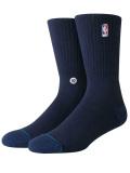 BK339 【メール便対応】 Stance NBA バスケットボール用 クルーソックス Basketball Socks 紺 Mサイズ