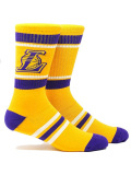SS151 【メール便対応】 PKWY NBA ロサンゼルス・レイカーズ LA Lakers Stripe Crew Socks クルーソックス