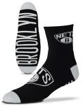 SS152 【メール便対応】 For Bare Feet NBA ブルックリン・ネッツ Brooklyn Nets クォーターソックス 黒白