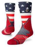 "SS168 Stance スタンス バスケットボール用 ""USA"" クルーソックス Basketball Crew Socks 【メール便対応】"