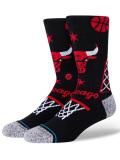 SS170 Stance スタンス NBA Chicago Bulls Landmark シカゴ・ブルズ クルーソックス Crew Socks 黒赤【メール便対応】