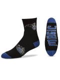 BK366 【メール便対応】 For Bare Feet NBA Orlando Magic オーランド・マジック クォーター  バスケットボール ソックス 黒青 【23cm~26.5cm】