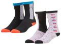 BK368 ジュニア Jordan Glitch Crew Socks ジョーダン クルーソックス 2足セット キッズ バスケットボール 靴下 黒青 22cm-25cm 【メール便対応】