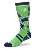 BK374 【メール便対応】 For Bare Feet NBA  All Star バスケットボール ソックス 靴下 黄緑紺 【23cm~26.5cm】