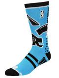 BK373 【メール便対応】 For Bare Feet NBA  All Star バスケットボール ソックス 靴下 水色黒 【23cm~26.5cm】