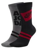 SS187 エアジョーダン Air Jordan Jumpman Crew Socks クルーソックス 2足セット 灰黒赤【メール便対応】