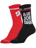 YK653 キッズ ジョーダン クルーソックス 2足セット Jordan Kids Crew Socks 子供用 靴下 20-23cm 黒赤【メール便対応】