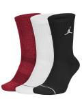 SS198 【メール便対応】  Jordan Jumpman 3 Pack Crew Socks ジョーダン ドライフィット クルーソックス 3足セット 黒白赤