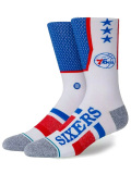 "SS200 Stance スタンス NBA Philadelphia 76ers シクサーズ ""Shortcut 2"" クルーソックス 白青赤【メール便対応】"