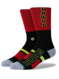 BK403 Stance スタンス NBA Atlanta Hawks アトランタ・ホークス Shortcut 2 Crew Socks クルーソックス 赤黒 【メール便対応】