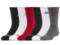 BK389 キッズ ジョーダン クルーソックス 6足セット Jordan Crew Socks Set 黒白灰赤 【22cm~25cm】