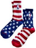 "SS209 NBA ""USA アメリカ"" Basketball Socks バスケットボール用 クルーソックス 2足セット 赤白青【メール便対応】"
