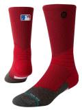 BK392 Stance MLB メジャーリーグ Crew Socks スタンス クルーソックス 赤ダークグレー Mサイズ 【メール便対応】