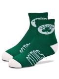 YK573 【メール便対応】 キッズ For Bare Feet NBA Boston Celtics ボストン・セルティックス クォーターソックス 緑白 【19cm~22cm】