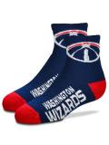 YK574 【メール便対応】 キッズ For Bare Feet NBA Washington Wizards ワシントン・ウィザーズ クォーターソックス 紺赤 【19cm~22cm】