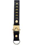 HO749 Jordan Luxe Leather Lanyard ジョーダン レザー ストラップ 牛革 黒メタリックゴールド 【メール便対応】