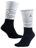 SS088 【メール便対応】 Jordan Retro 13 Crew Socks エアジョーダン クルーソックス 白黒