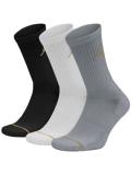 SS025 【メール便対応】 Jordan Jumpman 3 Pack Crew Socks ジョーダン クルーソックス 3足セット 黒白灰ゴールド