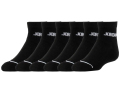 YK530 【メール便対応】 キッズ Jordan Quarter Socks ジョーダン クォーターソックス 6足セット 黒【18-20cm】
