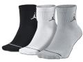 SS099 【メール便対応】 Jordan Jumpman 3 Pack Quarter Socks ジョーダン ドライフィット クォーターソックス 3足セット 黒白灰