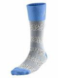 SS072 【メール便対応】 Air Jordan Elephant Striped Crew Socks ジョーダン クルーソックス 灰水色