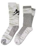 BK290 【メール便対応】  キッズ Jordan Crew Socks 2 Pair Pack ジョーダン  クルーソックス 2足セット 白灰 【22cm~25cm】