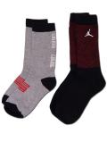 BK292 【メール便対応】  キッズ Air Jordan XI Crew Socks ジョーダン 11 クルーソックス 2足セット 黒赤灰 【22cm~25cm】