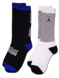 YK582 【メール便対応】 キッズ Air Jordan XI Crew Socks ジョーダン 11 クルーソックス 2足セット 白黒コンコルド 【18cm~20cm】