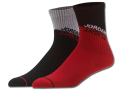 BK300 【メール便対応】 キッズ Jordan Crew Socks ジョーダン クルーソックス 2足セット 黒灰赤【22-25cm】