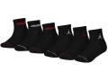 BK318 キッズ ジョーダン クォーターソックス 6足セット Jordan Quarter Socks Set 黒 【22cm~25cm】