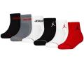 BK319 キッズ ジョーダン クォーターソックス 6足セット Jordan Quarter Socks Set 黒灰白赤 【22cm~25cm】