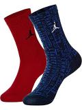 BK322 【メール便対応】 キッズ Jordan Crew Socks ジョーダン クルーソックス 2足セット 赤青【22-25cm】