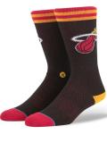 BK359 Stance NBA マイアミ・ヒート Miami Heat Jersey Crew Socks クルーソックス 黒赤 【メール便対応】