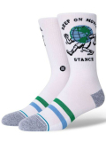 BK396 Stance スタンス Keep On Moving Crew Socks クルーソックス 白水色緑 Mサイズ 【メール便対応】