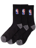 BK304 【メール便対応】 NBA クルーソックス 3足セット Basketball Crew Socks 黒 【23cm~26.5cm】