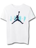 LL537 ジュニア ジョーダン Tシャツ Jordan Youth Jumpman T-Shirt キッズ ユース トップス 白紺ティール 【メール便対応】