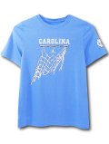 LL534 ジュニア ジョーダン NCAA ノースカロライナ大学 ターヒールズ トレーニングTシャツ Jordan North Carolina Tar Heels キッズ トップス 水色白【ドライフィット】 【メール便対応】