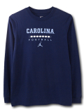 LL532 ジュニア ジョーダン NCAA ノースカロライナ大学 ターヒールズ ロングスリーブTシャツ Jordan North Carolina Tar Heels キッズ 長袖 紺水色 【メール便対応】