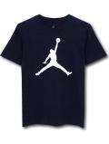 LL535 ジュニア ジョーダン Tシャツ Jordan Youth T-Shirt キッズ ユース トップス 紺白 【メール便対応】