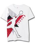 LL540 ジュニア ジョーダン Tシャツ Jordan Youth T-Shirt キッズ ユース トップス 白赤黒 【メール便対応】