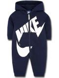 BT366 ベビー Nike Futura Infant Coverall ナイキ フード付き カバーオール 紺白 【メール便対応】