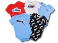 BO033 ベビー プーマ ロンパース 5枚セット Puma Rompers Baby ベビー服 赤ちゃん 水色赤灰