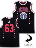 NB489 【メール便対応】 UNK NBA Washington Wizards ワシントン・ウィザーズ トレーニングノースリーブ 黒赤白