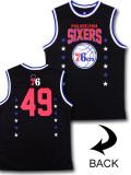 NB490 【メール便対応】 UNK NBA Philadelphia 76ers フィラデルフィア・セブンティシクサーズ トレーニングノースリーブ 黒青白
