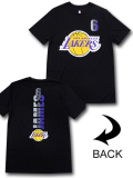 NB566 メンズ NBA レイカーズ レブロン・ジェームズ トレーニングTシャツ UNK Los Angeles Lakers LeBron James アンク 黒黄色紫 【メール便対応】