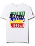 LL544 ジュニア ジョーダン Tシャツ Jordan Youth T-Shirt キッズ ユース トップス 白マルチカラー 【メール便対応】